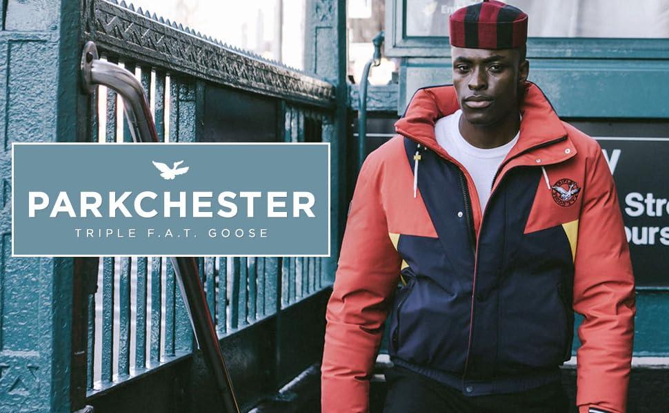 Parkchester, mens down jacket, mens down coat, parka