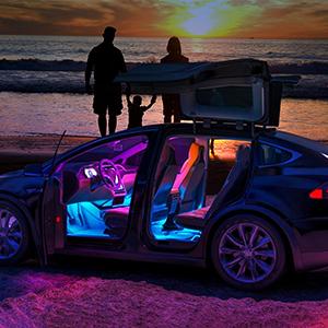 car lights interior