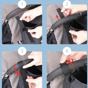 adjustable stroller organizer