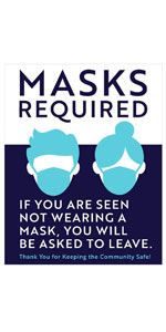 Masks Required Decal You Will Be Asked to Leave