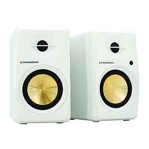 Contemporary Design White Active Tabletop Speaker