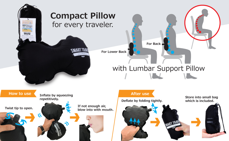 Lumbar Support Pillow Travel Pillow.