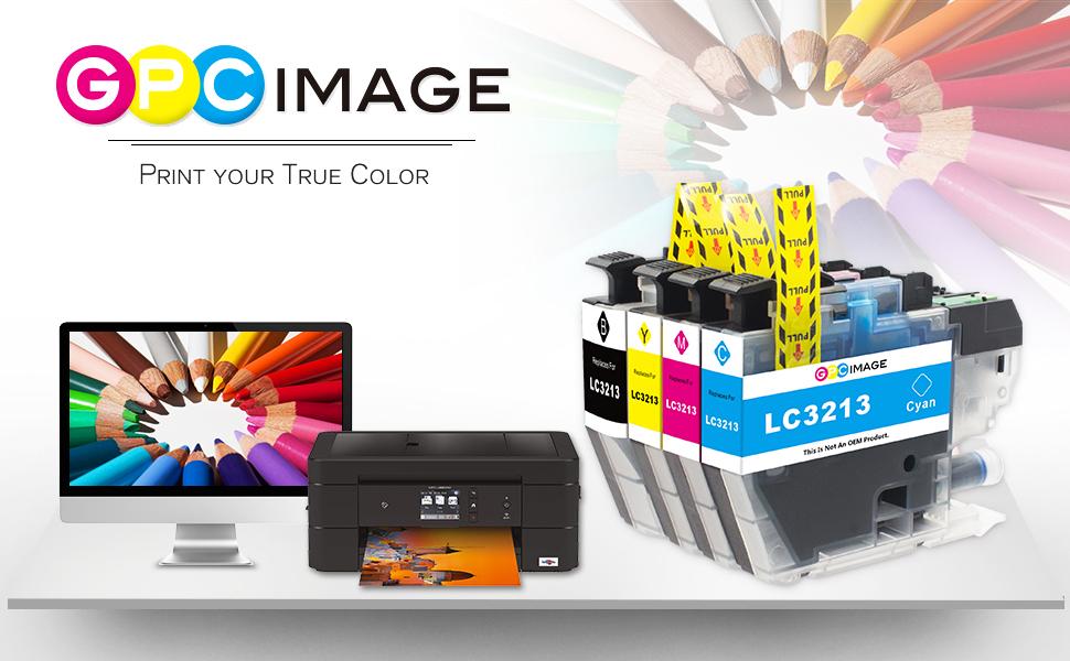 GPC Image LC3213 LC-3213 Cartucho de Tinta Compatible para Brother LC 3213 para Brother DCP-J572DW MFC-J895DW MFC-J890DW MFC-J497DW DCP-J772DW ...