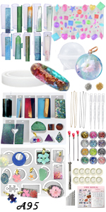 LOT! Jewelry Making Molds and Supplies Pack of 411