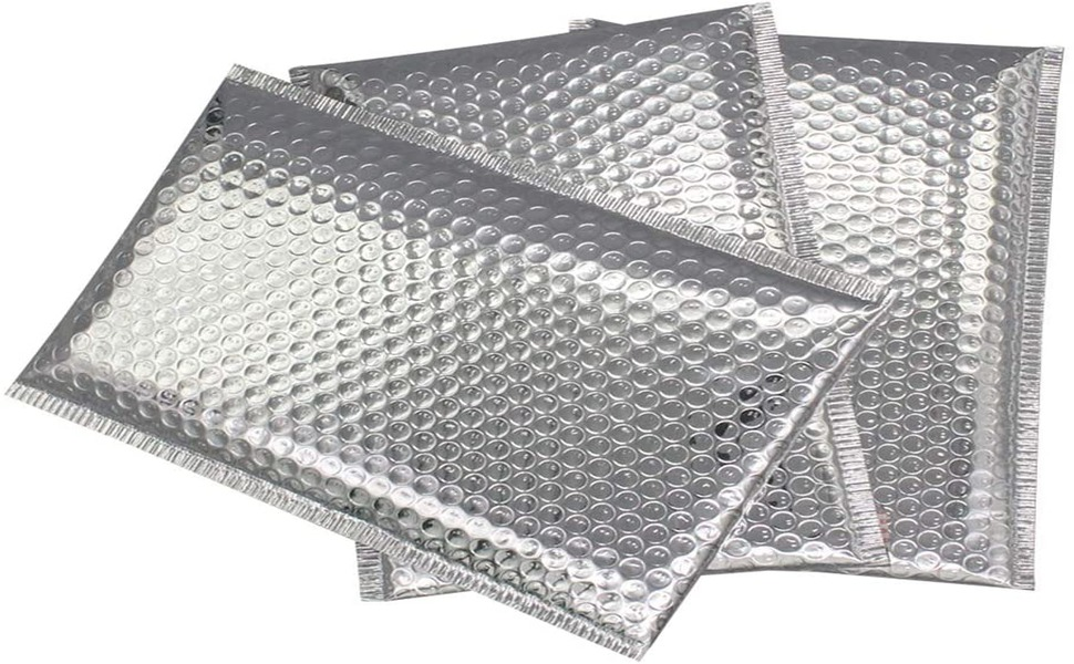 Silver Metallic Bubble Mailers