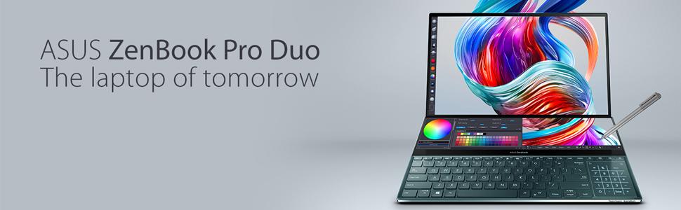 ASUS ZenBook Pro Duo UX581 Laptop with ScreenPad Plus