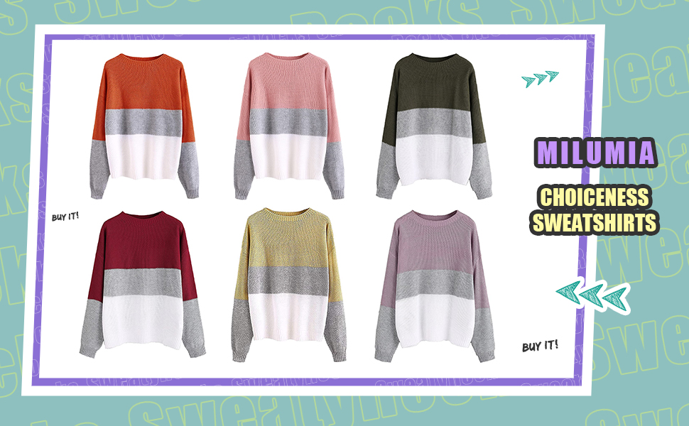 Drop Shoulder Knitted Color Block Textured Jumper Casual Sweater