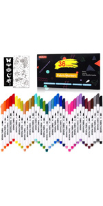 36 Colors Fabric Markers