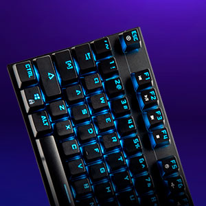 YEYIAN Teclado mecánico Gaming, Spark 2000, 88 Teclas, Switch Rojo, QUERTY, RGB retroiluminado, con Cable, Negro, (YAT1806)
