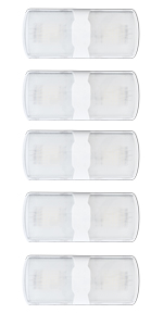 Leisure LED 5-Pack RV LED Ceiling Double Dome Light Fixture with Built in Touch Dimmer Interior