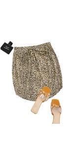 Women Leopard Print Mini Skirt