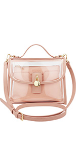 crossbody bag, shoulder bag, satchel, vegan, stadium compliant, sports, clear bag, transparent purse