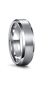 Silver Tungsten Carbide Ring