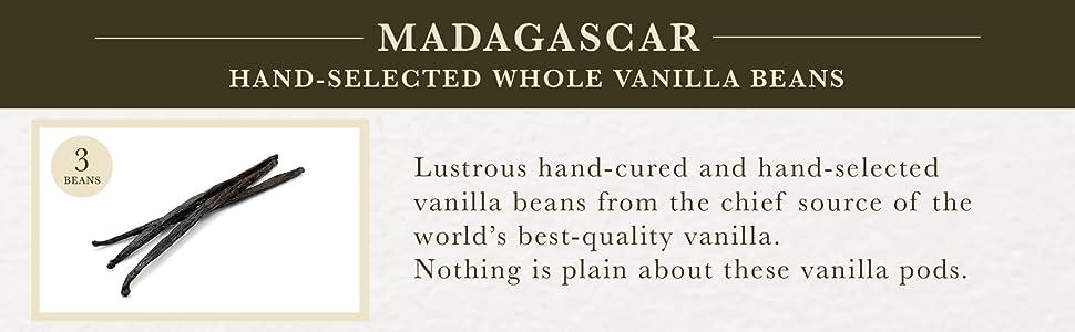 Madagascar Hand-Selected Whole Vanilla Beans