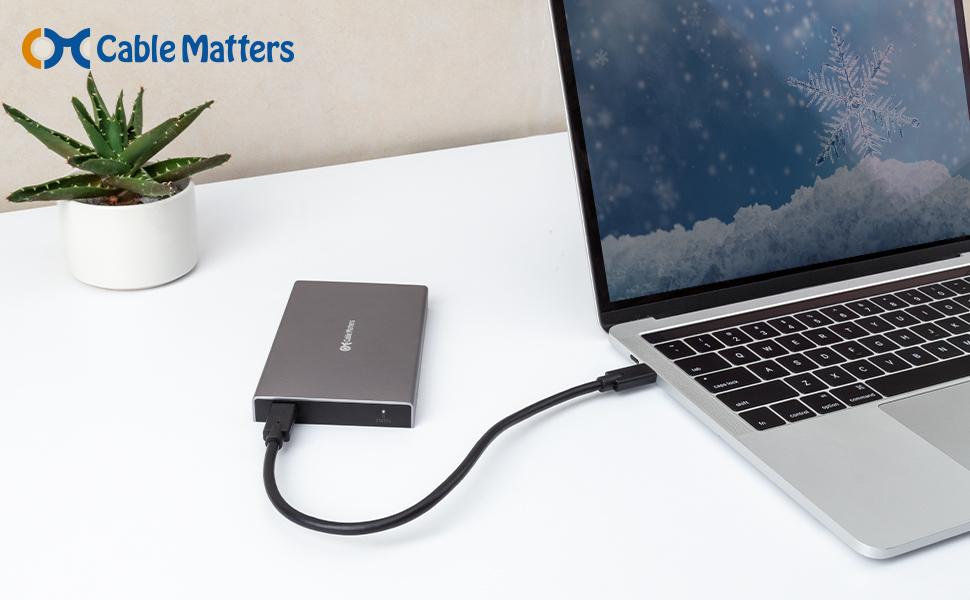 Cable Matters Aluminio 10Gbps Carcasa Disco Duro Externo 2.5 USB C ...