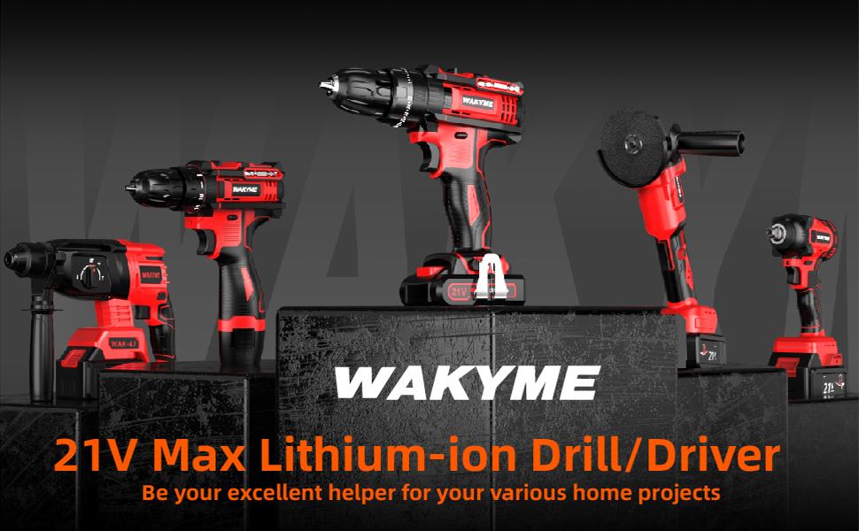 WAKYME 21V Max Power Drill Kit