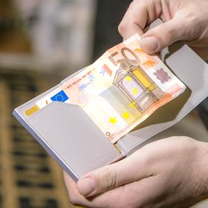 tarjetero, cartera hombre, cartera practica, tarjetas, billetes, proteccion RFID, billetera cuero