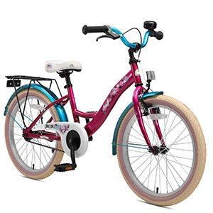 BIKESTAR Bicicleta para niños con Lateral y Accesorios para niños de 6 años | edición clásica de 20 Pulgadas | Berry & Turquoise: Amazon.es: Juguetes y juegos