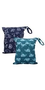 Bathing Suit Bag Diaper Clutch Eco Friendly Reusable Produce Bag Choose Size Boy Jungle Wild Bunch Wet Bag Food Safe Breast Pump