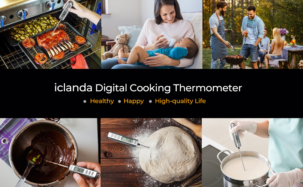 Instant Read Thermometer Digital Cooking Thermometer Dual Probe
