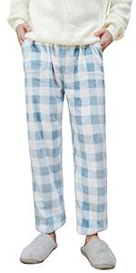 YAOMEI Women's Pyjamas Bottoms, Long Drawstring Lounge Shorts Pants Plain Nightwear Casual Trousers