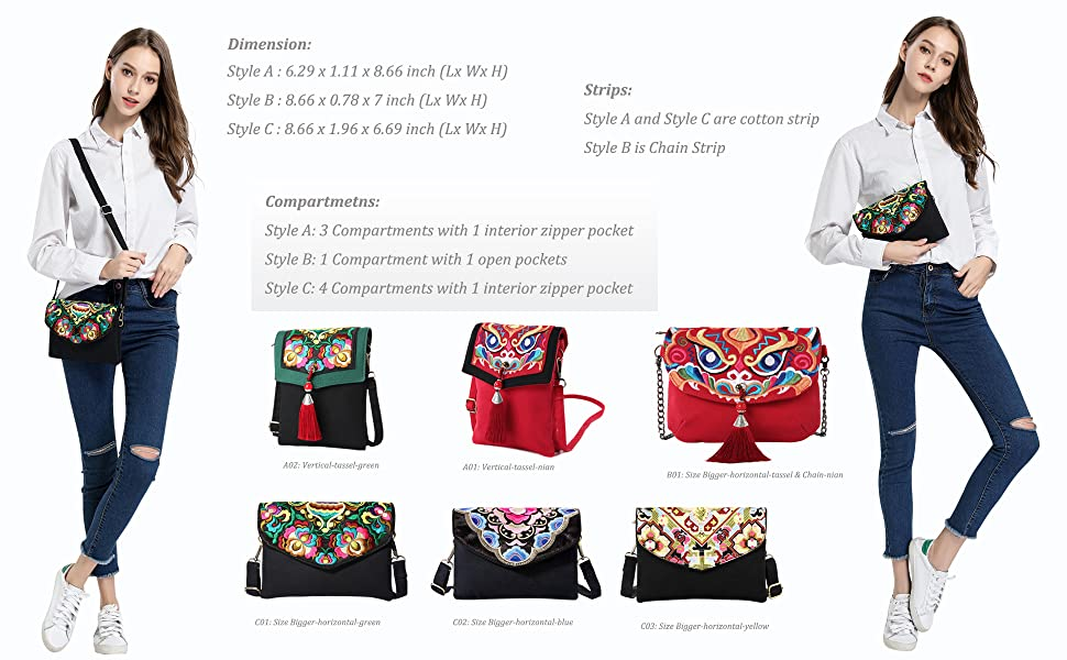 many colors crossbody bags for chosse