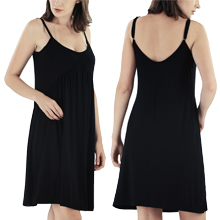 black slip dress for women