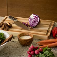 CenterPointe, Cutting Board, Acacia, Butcher Block, Kitchen, Tools, Cutlery, Wood, Reversible, Serve