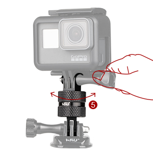 GoPro 360 degree camera mount