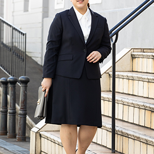 Flared Skirt Suit