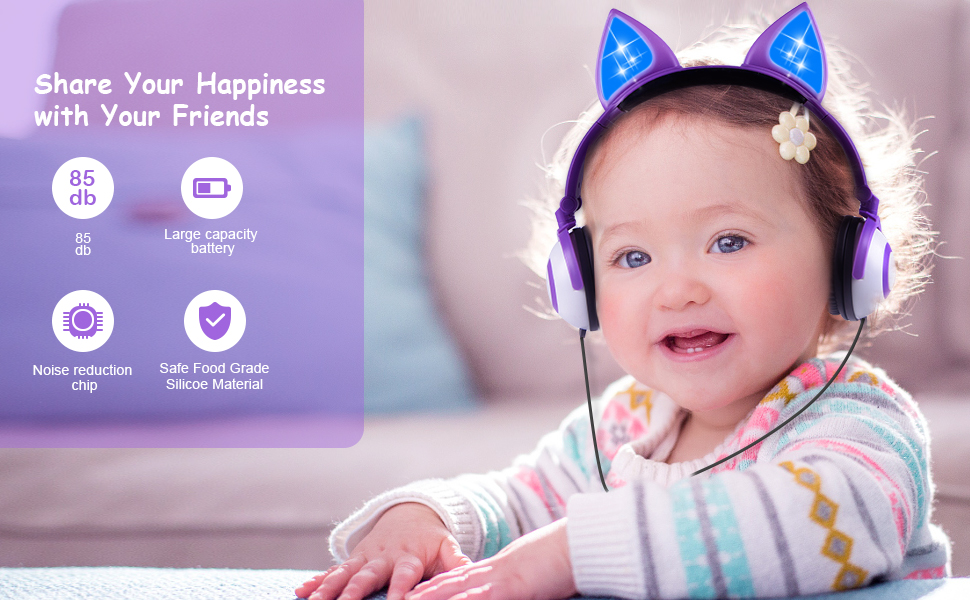 Happiness kids headphones
