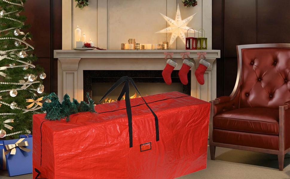 color rojo Bolsa de almacenamiento Navidad polietileno