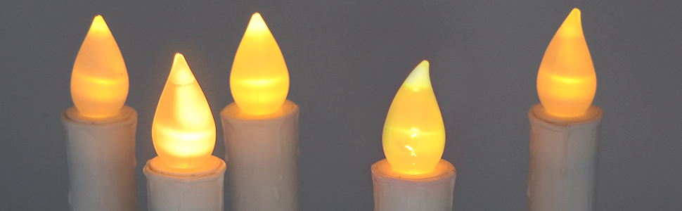 battery flameless window taper candles remote and timer