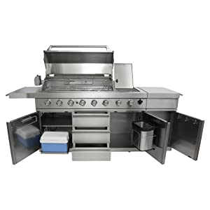 Mayer Barbecue Zunda Mgg 362 Extreme Gas Barbecue Outdoor Kitchen Stainless Steel 6 Main Burners 1 Back Burner 1 Searburner Many Extras 237 5 X 120 X 60 5 Cm Amazon De Garden