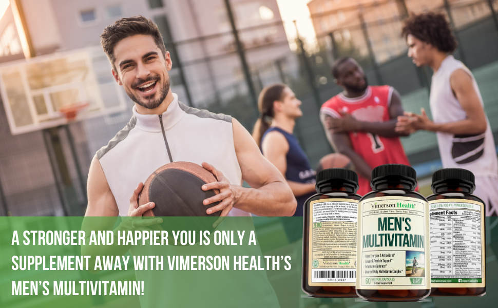 Men's Multivitamin Vimerson Health Supplement Man Men