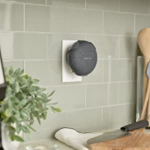Google Home Mini, Kitchen, Countertop, Hands Free, Mount, Clip, GHM Clip, GHM Mount, Powered Mount