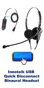 USB Classsi Bi Speaker Headset