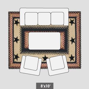 8x10' Braided rugs