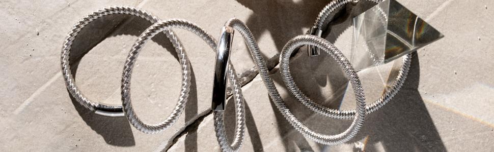 breil;gioiello;bracciale;new snake;steel;acciaio;silver;modellabile