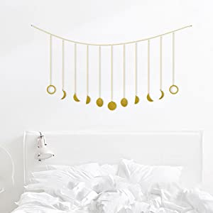 Hygge & Cwtch Moon Phase Wall Hanging Metal Garland