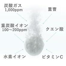 炭酸ガス、重炭酸イオン、クエン酸、重曹、水素イオン
