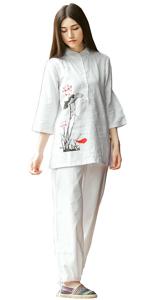 Amazon.com: KSUA Womens Martial Arts Uniform Tai Chi Suit ...