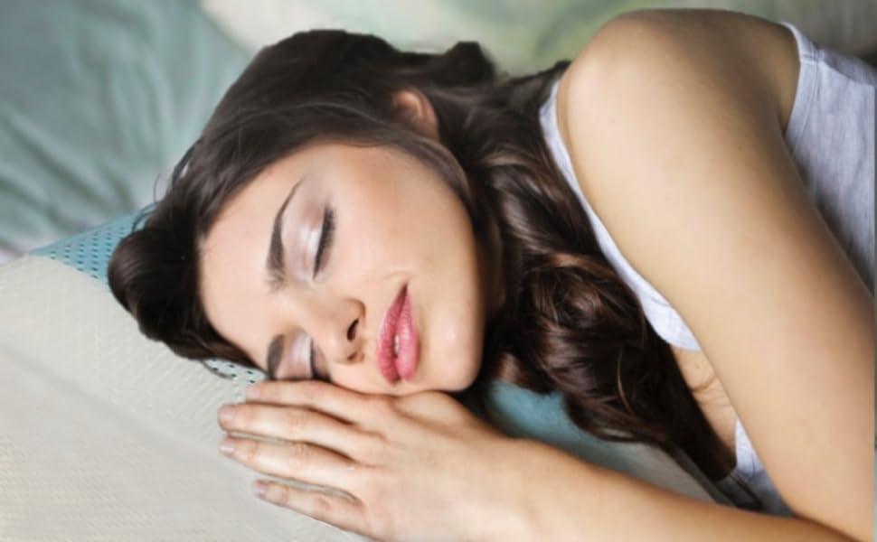 Almohada Cervical Viscoelástica de Gel con Espuma de Memoria Previene dolor de Espalda y Cuello   Cojín Flex Visco Firme y Suave para Dormir con Funda ...