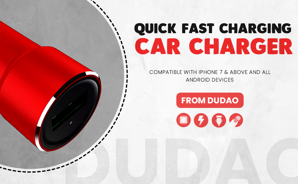 Dudao SPN-BNB85C Mobile car charger iPhone car charger car charger socket plug boat car charger