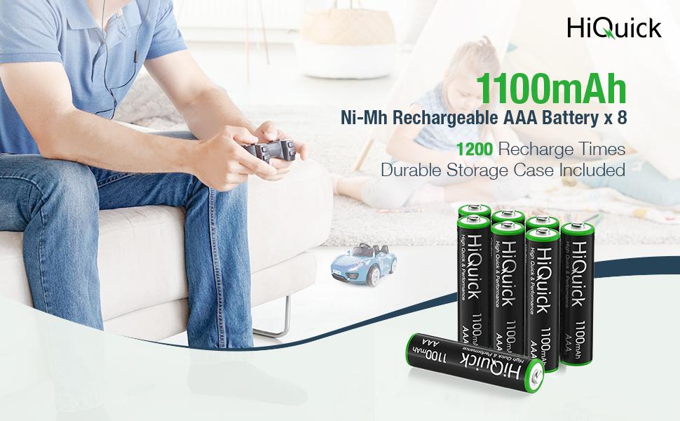 HiQuick AAA battery rechargeable