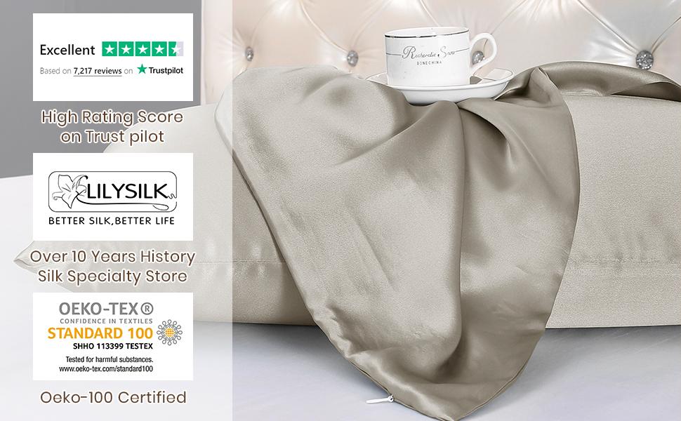 pure silk pillowcase for hair and skin