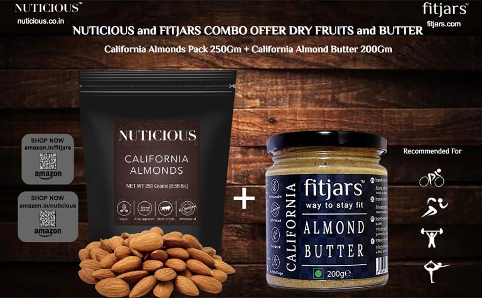 premium almonds,california almonds,badam,premium badam,nuticious,fitjars,nuts and seeds,dry fruits