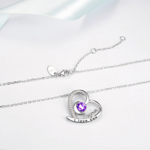 I Love You Mom Necklace for mom birthay gifts