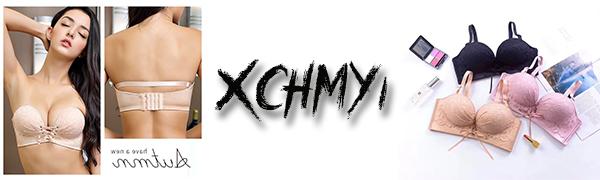 XCHMYI快適なずれにくい盛れるストラップレスファッションブララップレス ブラジャードレスブラ ノンワイヤーブラ 通気性優れ(1枚セット/2枚セット)