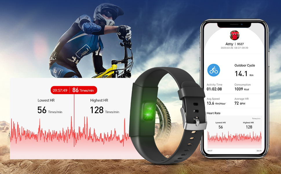 fitness traker with heart rate monitor